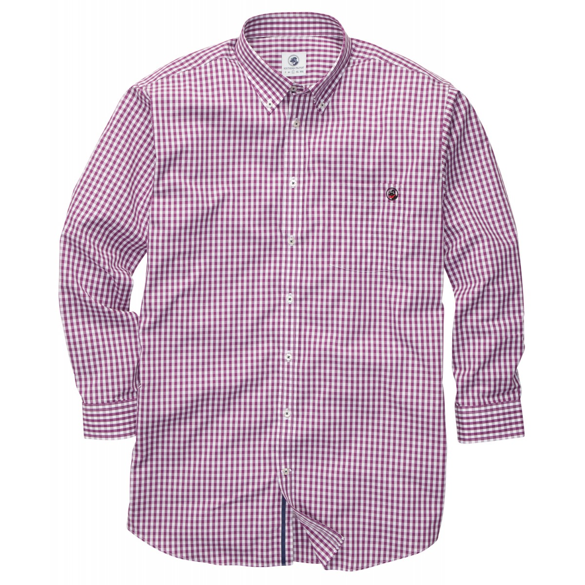 The Goal Line Shirt - Purple Gingham